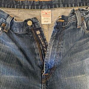 Lucky Brand Dungarees Bootcut Jeans 36 Long Length